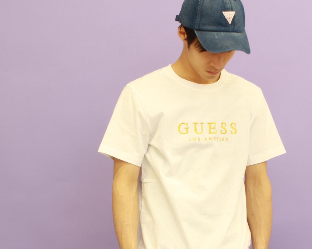 大注目ブランド「GUESS/ゲス」にジーンズファクトリーが別注ロゴアイテムをオーダー!