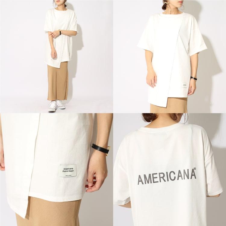 Americana × JEANS FACTORY [アメリカーナ × ジーンズファクトリー] 別注 サイドジップTシャツです。