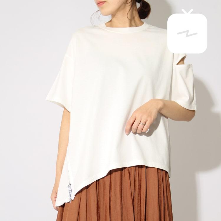 ジーンズファクトリーレディースバイヤーのインスタTVで紹介したアメリカーナの別注Tシャツです。