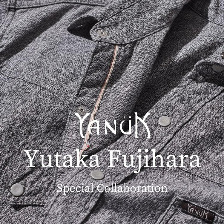 YANUK×Yutaka.f 2020秋冬コラボレーション「ウエスタンシャツ」発売のニュースバナーです。