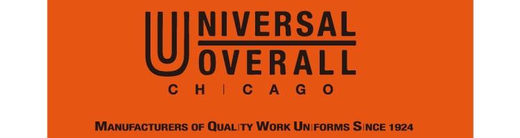 ユニバーサルオーバーオールのブランドロゴです。