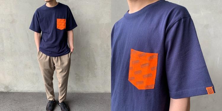 ユニバーサルオーバーオールの2020ジーンズファクトリー別注Tシャツです。