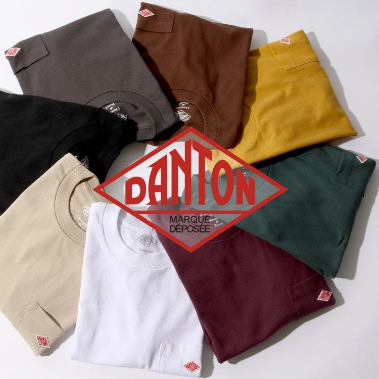 2020秋冬DANTON(ダントン)新作コットンポケットTシャツ入荷の特集バナーです。