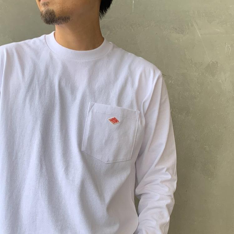 2020秋冬DANTON(ダントン)新作コットンポケットTシャツのイメージ写真です。