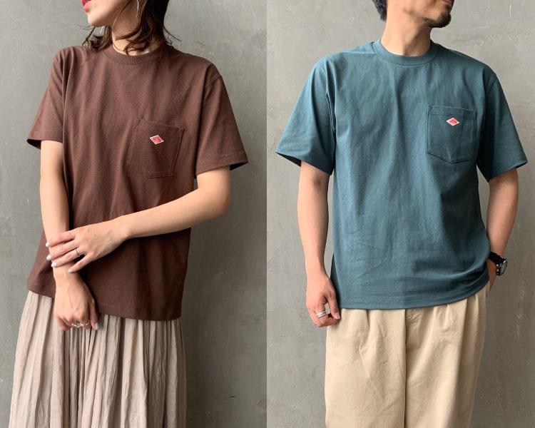 2020秋冬DANTON(ダントン)新作コットン半袖ポケットTシャツの写真です。