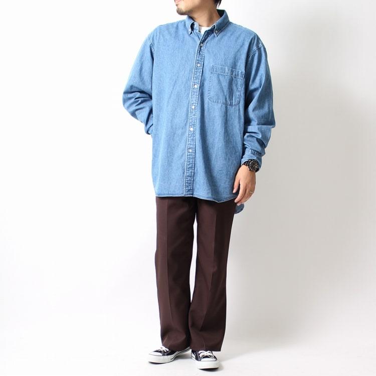VALTA [ヴァルタ] 別注 ビッグデニムシャツのコーディネートです。