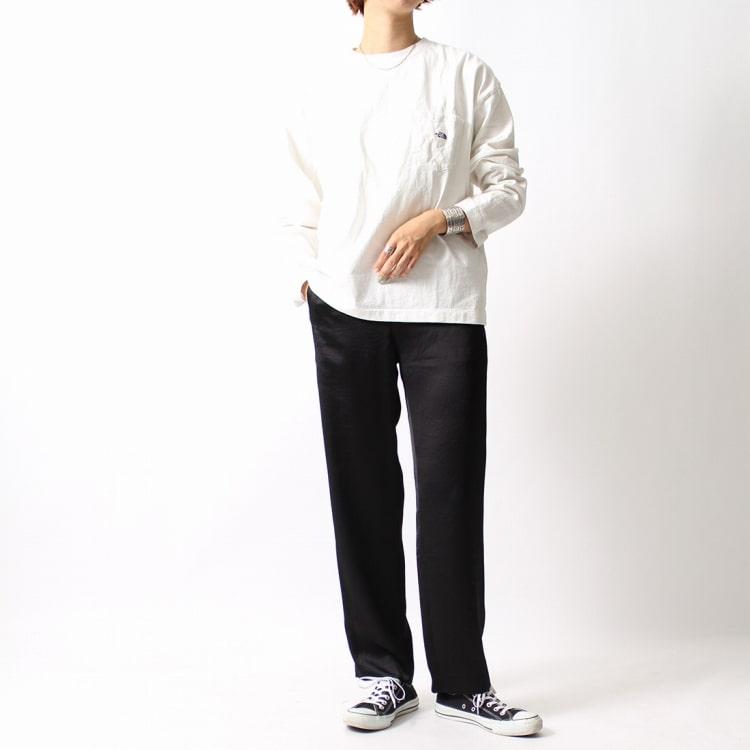 THE NORTH FACE PURPLE LABEL [ザ ノースフェイス パープルレーベル] 7oz 長袖ポケットTシャツのコーディネートです。