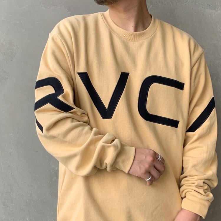 「RVCA/ルーカ」今すぐ着れるビッグシルエットのTシャツ・スウェットの特集バナーです。