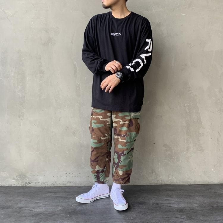 RVCA [ルーカ]のSMALL RVCA ロングスリーブTシャツのコーディネートです。