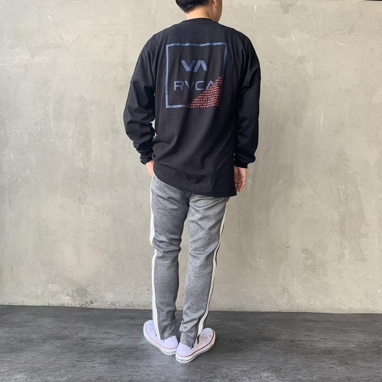 RVCA [ルーカ]のFRACTION ロングスリーブTシャツのコーディネートです。