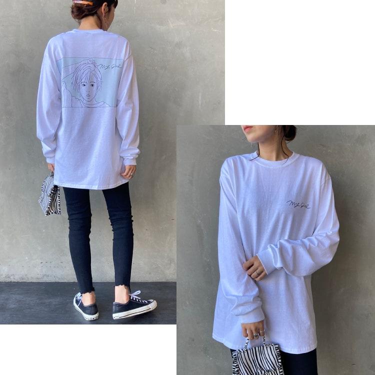 SCREEN STARS [スクリーンスターズ] 別注 ガールプリントTシャツのコーディネートです。