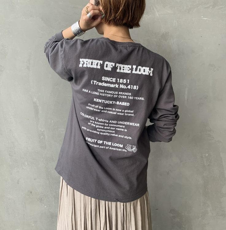 FRUIT OF THE LOOM [フルーツ オブ ザ ルーム] 別注 バックプリントビッグTシャツです。