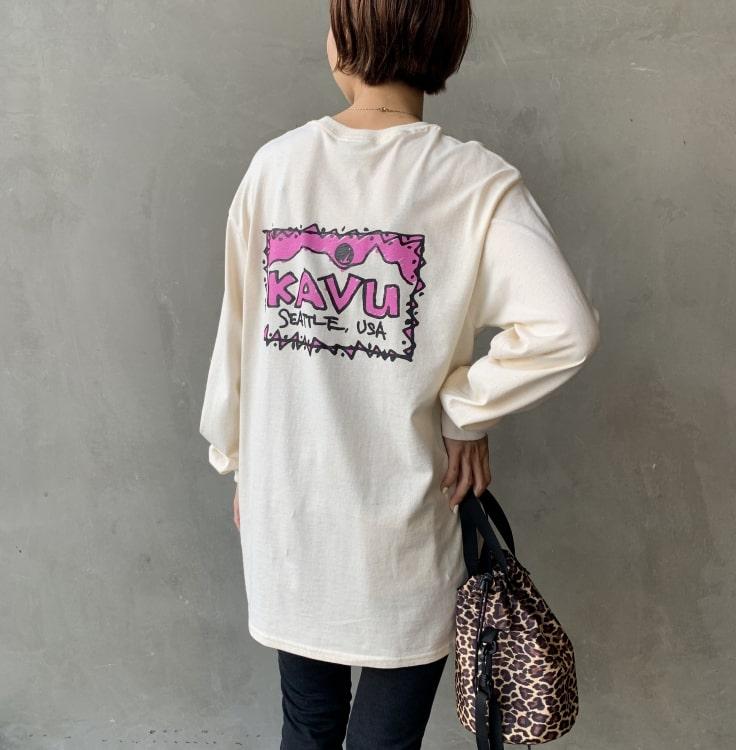 KAVU [カブー] レフトロングスリーブTシャツです。