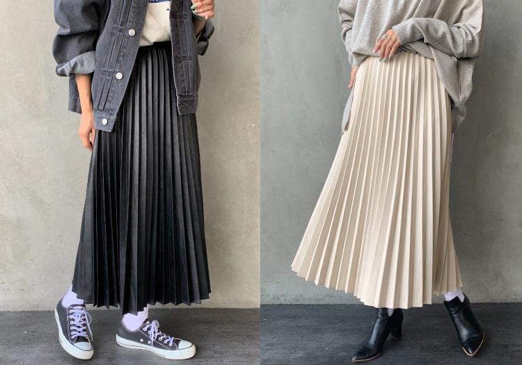 Jeans Factory Clothes [ジーンズファクトリークローズ] フェイクレザープリーツスカートです。
