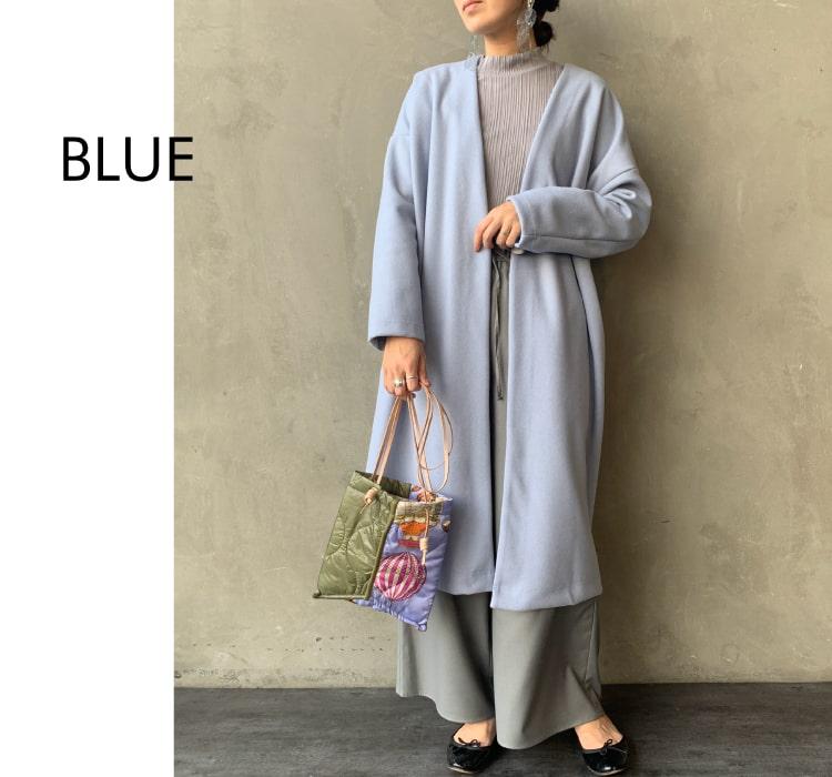 Jeans Factory Clothes [ジーンズファクトリークローズ] ウールレットノーカラーコートのコーディネートです。