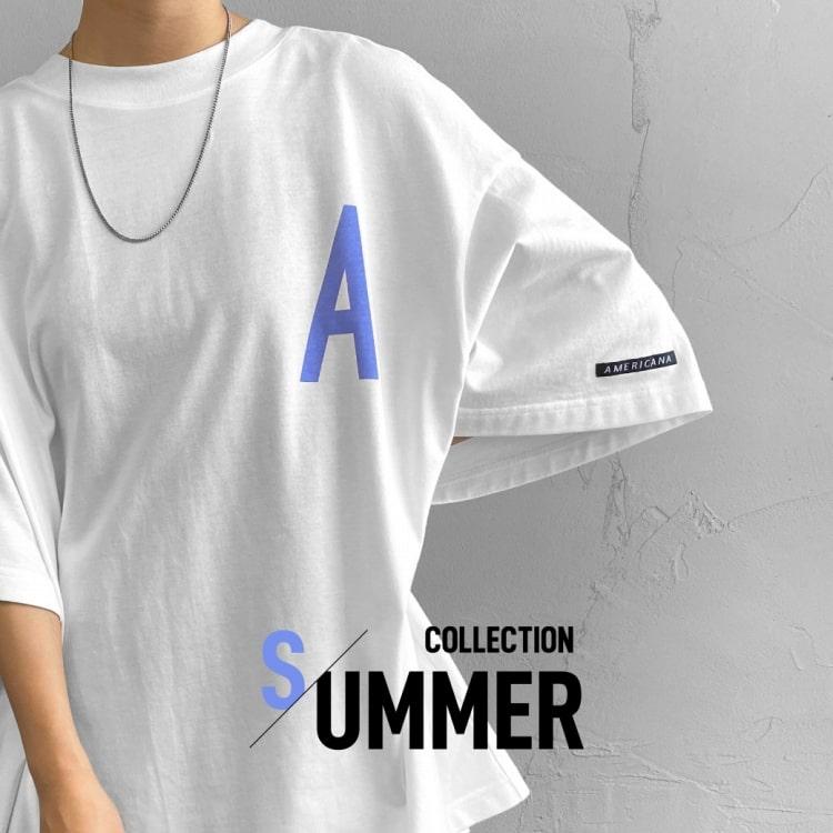大人のフレンチカジュアルムード漂う、初夏のアメリカーナ別注Tシャツの特集バナーです。