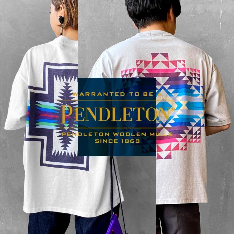 「PENDLETON(ペンドルトン)×JEANS FACTORY」1枚で決まる別注Tシャツの特集バナーです。
