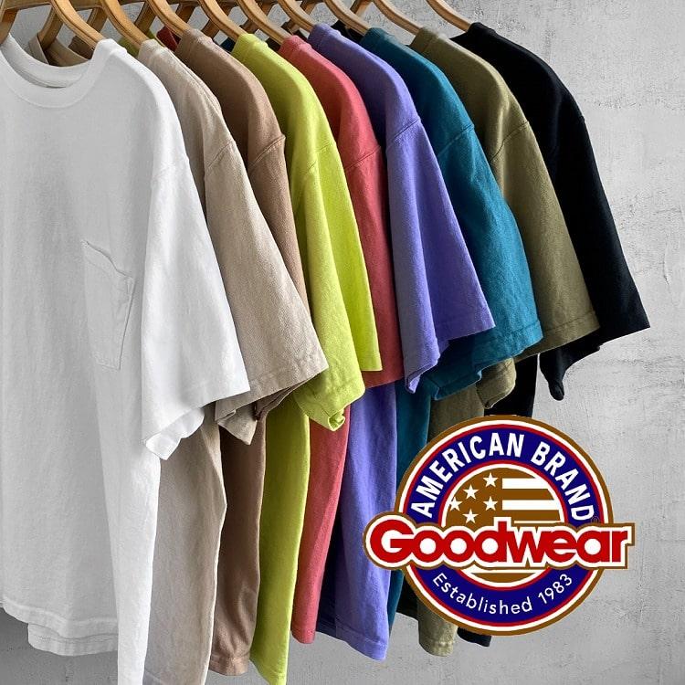魅力の尽きないヘビーウェイトTシャツ Goodwear(グッドウェア)の特集バナーです。