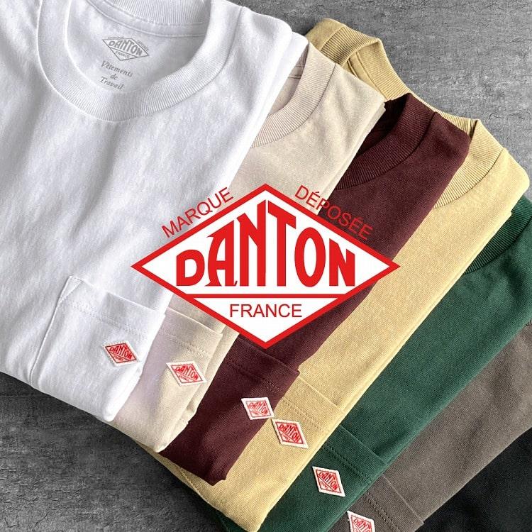DANTON(ダントン)定番ロンTが入荷!半袖Tシャツには新色が新たにラインナップの特集用バナーです。
