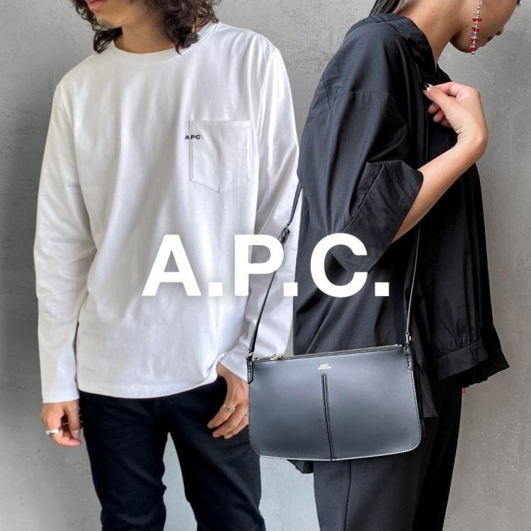フレンチベーシックな秋の装い A.P.C.(アーペーセー)2021年秋冬新着アイテムの特集バナーです。