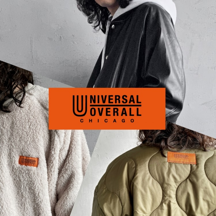 UNIVERSAL OVERALL(ユニバーサルオーバーオール)2021秋冬別注アイテムを一挙ご紹介の特集バナーです。