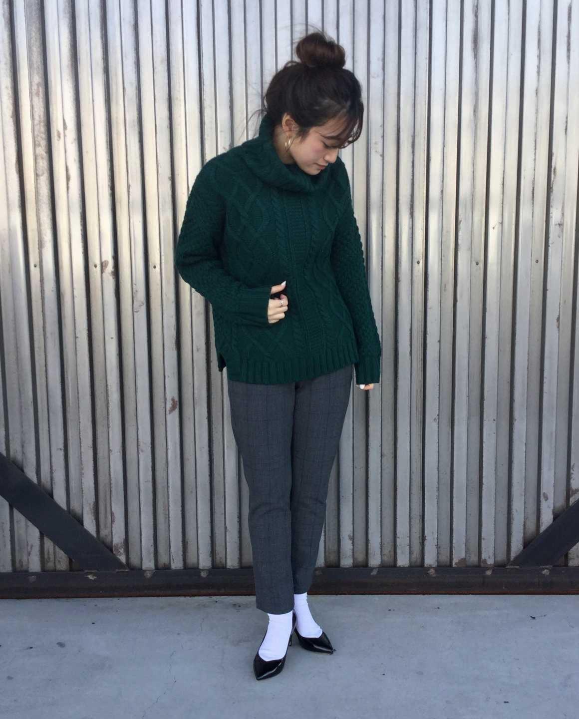 CABLE KNIT × EASY PANTS