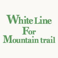 WHITE LINE FOR MOUNTAIN TRAIL
