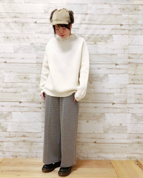 KNIT×CHECK STYLE